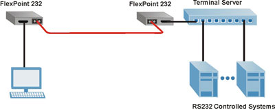 FlexPoint RS-232 Application Example