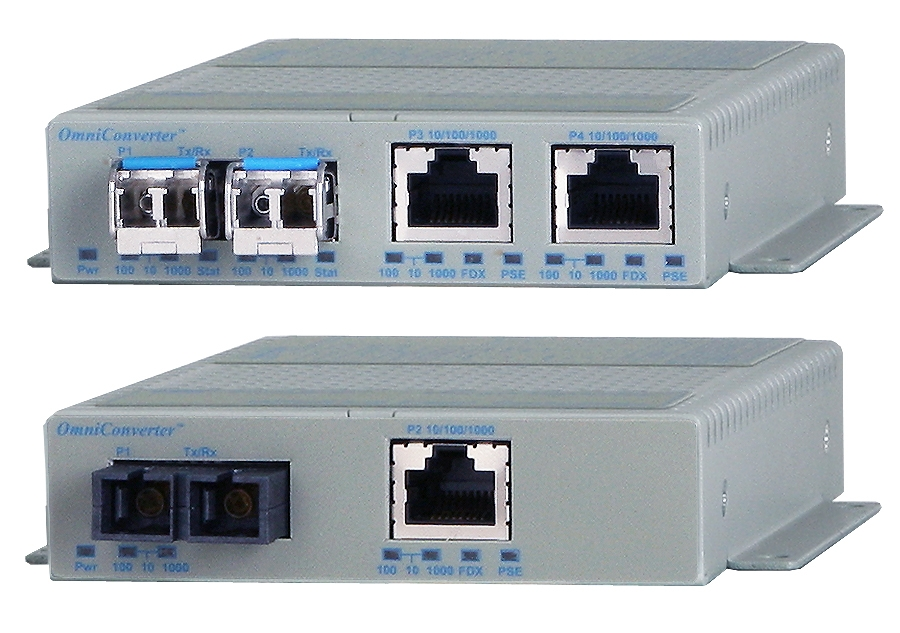 Omnitron OmniConverter GPoE/S Industrial