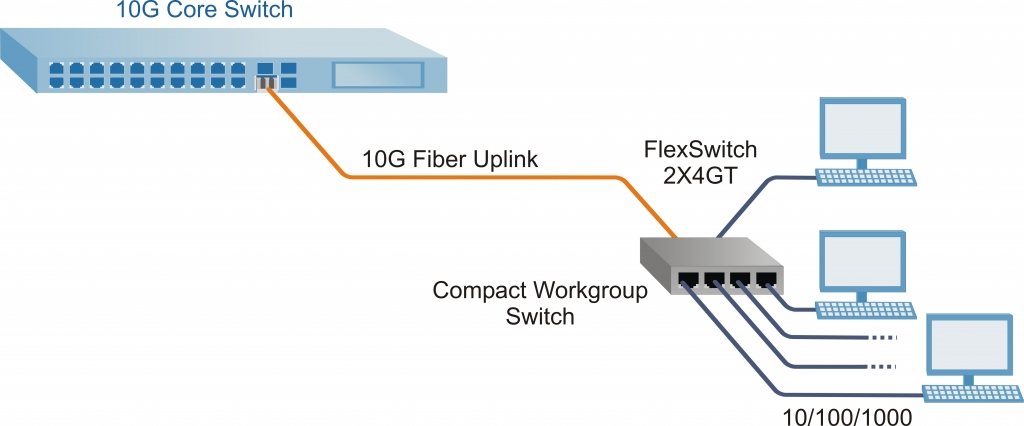 Omnitron FlexSwitch 2X4GT Application Example